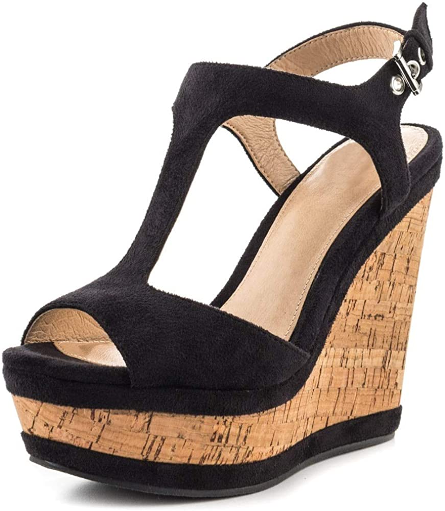 In a popularity JOY IN Super sale LOVE Women's Wedges Shoes Buckle Platform Pink Sandals