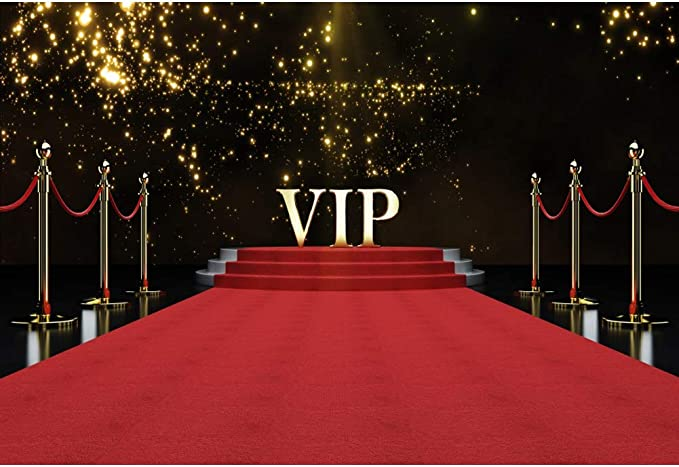 Leowefowa 10x10ft Vinyl Backdrops for Photography VIP Happy Birthday Black Step and Repeat Background for Birthday Party Decoration Baby Kids Adults Portrait Photo Studio Backdrop Props