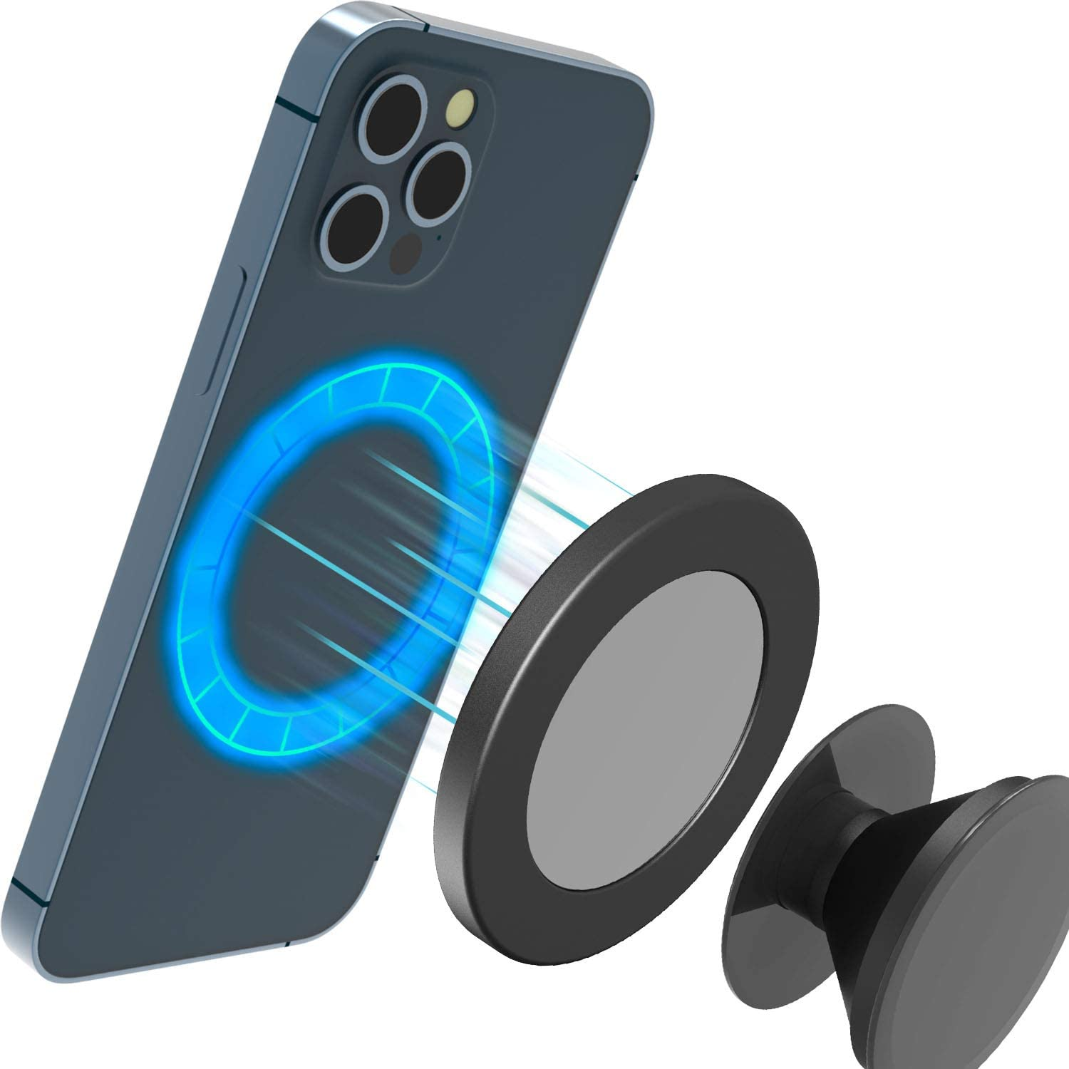 Quarble Magnetic Pop Base Compatible with MagSafe Case and iPhone 13 12 Pro Max Mini Accessories for The Users of Phone Grip/Stand/Holder and More