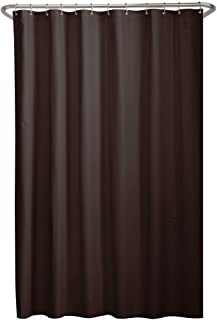 MAYTEX Soft Microfiber Water Repellent Fabric Shower Liner Or Curtain Chocolate Brown