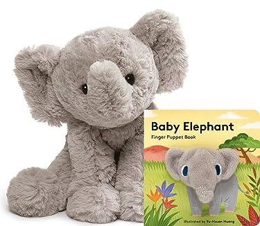 """GUND Cozys Collection Elephant Stuffed Animal Plush, Gray, 8"""" (Elephant Plush Gift Set)"""