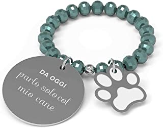10 Buoni Propositi Anello Donna Parlo Solo col Mio Cane Collezione Crystal Silver