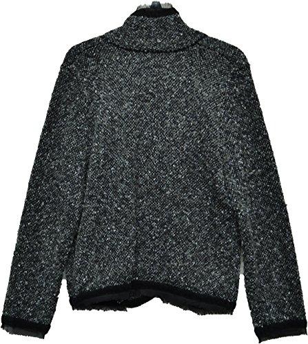 Apt-9-Wool-Cardigan-Sweater-Jacket-Medium-Black-Grey