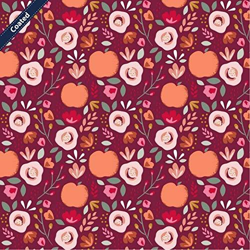 Schickliesel beschichtete Baumwolle Meterware Äpfel und Blüten (Beere)