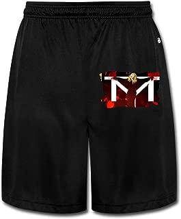 AOLM Mens Performance Shorts Sweatpants Trousers Madonna Black .