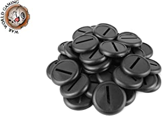 War World Gaming 30mm Round Slotted Plastic Bases with Lip (Choose Quantity) – 28mm Wargames Wargaming Stand Terrain Minia...