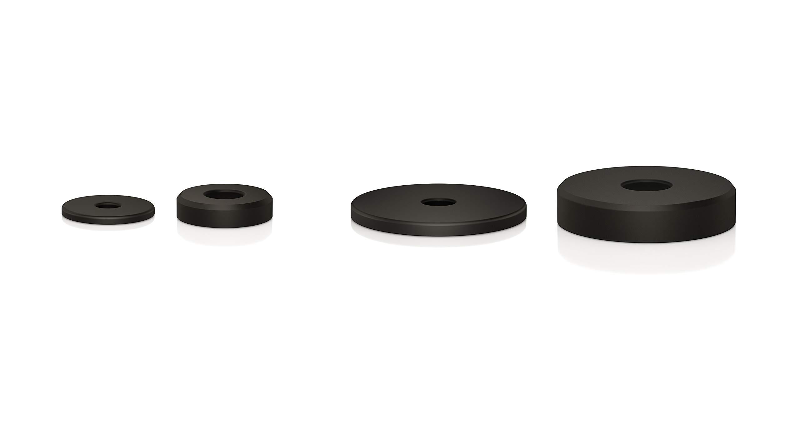 Almohadillas absorbentes para Amortiguador de Vibraciones Color Negro VIABLUE Absorber Softpads UFO//UFO XL 8 Unidades, Diferentes tama/ños y Alturas