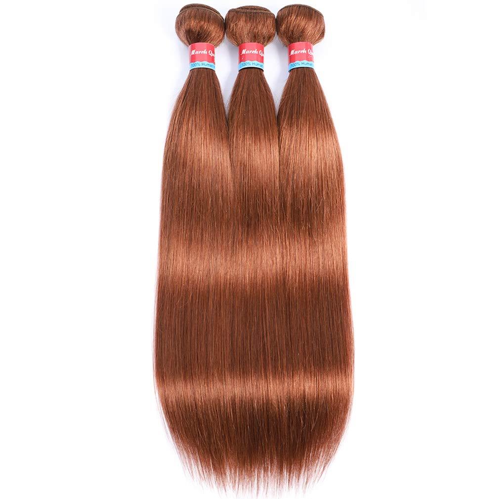 Brazilian Arlington Mall Straight Hair Bundles #30 Brown Weave Color Light Sales results No. 1