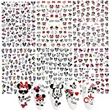 Mickey Mouse Nail Art Stickers Decals 3D Self Adhesive Nail Art Supplies Minnie Mouse Nail Decals for Nail Art Decoration DIY Nail Designs Sticker Luxury Designer Nail Stickers for Acrylic Nail 6 PCS