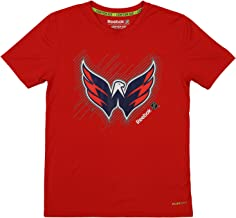 Reebok NHL Youth (8-18) Washington Capitals Short Team Logo Performance Tee