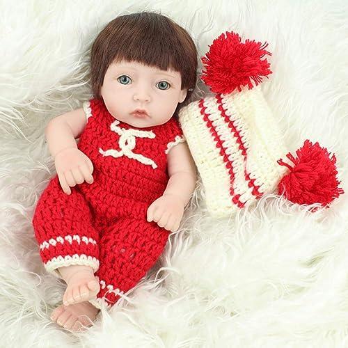 NPKDOLL Reborn Baby-Puppe, naturgetreue Nachbildung, mädchen, 28 cm, Weißes Silikon, DG146 Acrylaugen, kann ins Wasser eindringen, sch s Spielzeug Geschenk