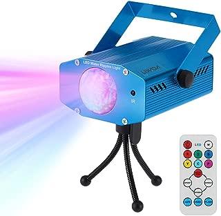 Lixada Disco Lichteffekte, Disco Licht mit Fernbedienung und Musikgesteuert 9W Bühnenbeleuchtung DJ Partylicht mit Farbwechsel und Stroboskop