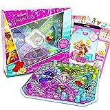 Disney Princess Pop Up Game ~ 3 Pc Bundle with Disney Princess Board Game for Kids with Pop Up Dice, Palace Pets Stickers, and Door Hanger (Princess Party Favors)