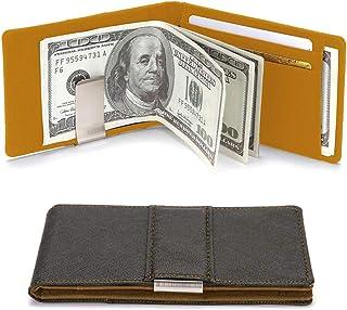 Portafoglio per uomo con porta carte di credito fermasoldi