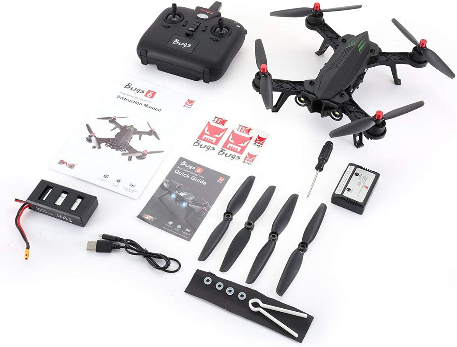 Swiftswan 2.4GHz 4CH 6 Axis Gyro Preassembled RTF Racing Drone High Speed 1806 1800KV Motor Brushless RC Quadcopter