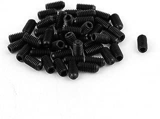 uxcell 50Pcs Black M4 x 8mm Alloy Steel Hex Socket Set Grub Screws Headless Cup Point