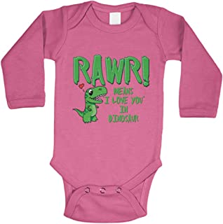 inktastic Rawr Means I Love You in Dinosaur Valentine in Pink Toddler T-Shirt