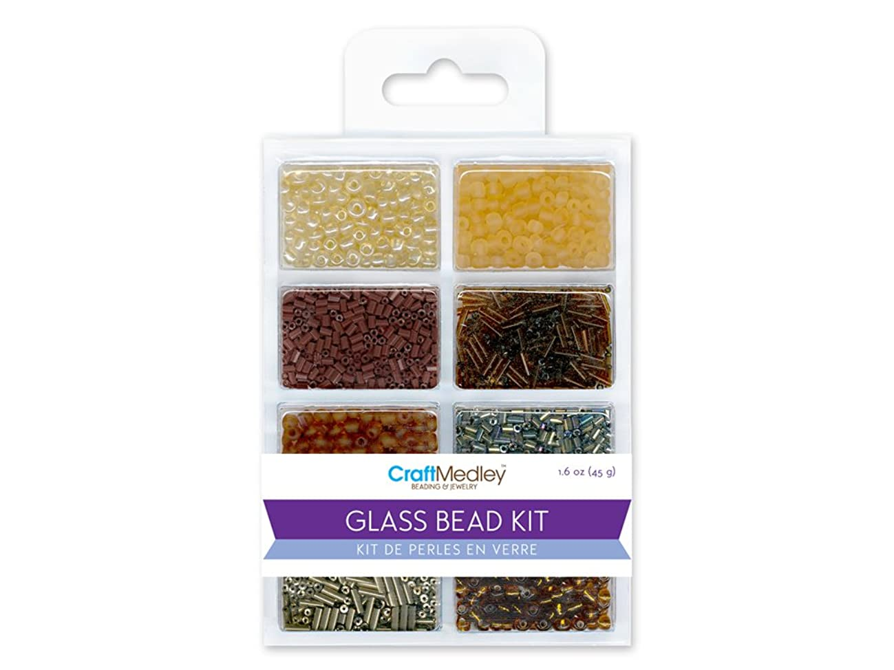 Multicraft Imports Glass Bead Kit, 45g, Rocailles/Seed/Bugles, Nuggets