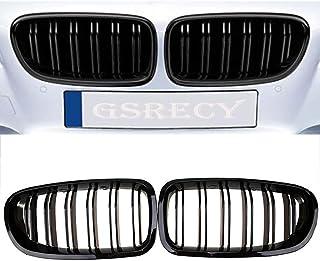 5 Series F10 F18 2010-2015 Parrilla de ri/ñ/ón para parachoques delantero color negro brillante
