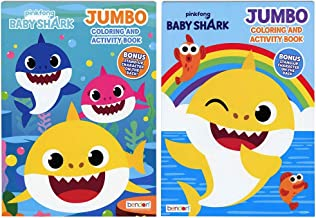 Bendon Baby Shark Jumbo Coloring Book and Activity Book (2 Book Set ~ 80 Page Each) 🦈