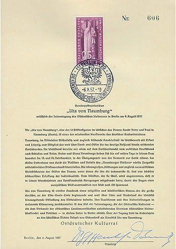 Goldhahn Berlin ETB Nr. 25  Naumburg handsigniert Henckel- Donnersmarck Briefmarken für Sammler