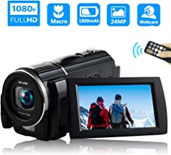 Video Camera Camcorder Full HD 1080P 30FPS Digital Video Camera Camcorder Macro Digital Camera 24MP Vlogging Camera with Remote