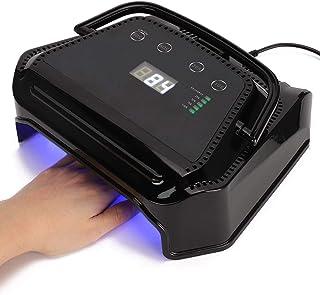 UV Nail Lamp Dryer 72W UV LED Nail Dryer Light Rechargeable LED Digital Display Nail Polish Portable Nail Curing Light for Gel Nails Polish Manicure 4 Timer Settings & Smart Sensor(au)