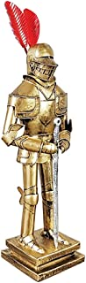 Knight Armor Statue, Medieval Warrior Warrior Statue Retro Soldier Wrought Iron Crafts Desktop Decoration Restaurant Medie...