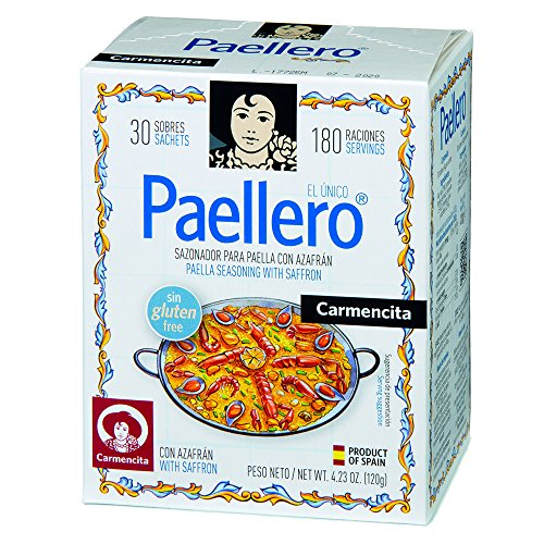 Carmencita Paella Seasoning 30 Sachets Spanish Paellero