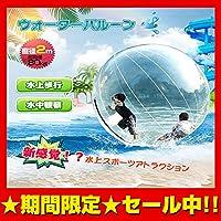バルーン 直径2m ウォーター ダッシュ アクア ボール 水上 散歩 ハイハイ 透明 水中観察 集客 イベント レジャー pa101