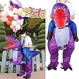 Snufeve6 Disfraz de Halloween Inflable, sin Fugas de Aire, Conveniente Ropa de Fiesta Impermeable, para Fiestas de actuaciones(X115 Blue Purple)
