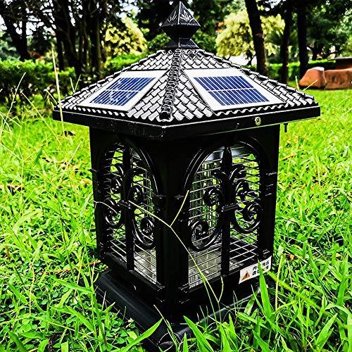 Vinteen IP65 Solar Columna Faros poste de la puerta Luces Villa Jardín Patio de luces a prueba de agua al aire libre Escritorio Luces al aire libre Gate Mensajes Luz a la pared Mensaje al aire libre l