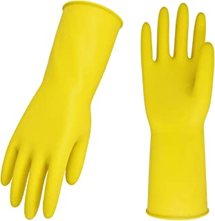 Vgo 10-Pairs Reusable Household Gloves, Rubber Dishwashing gloves, Extra Thickness, Long..