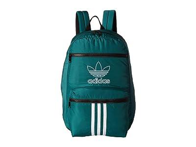 adidas Originals Originals National 3-Stripes Backpack (Noble Green) Backpack Bags