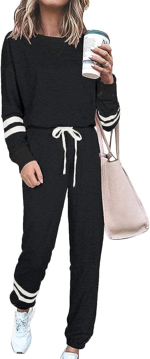 Krisbok Women's Two Piece Set Tie Dye Print Long Sleeve Tops With Shorts Casual Pajamas Set Sleepwear Lounge Wear