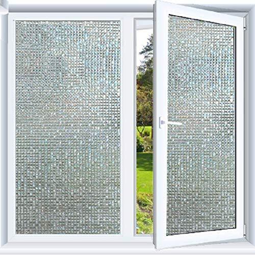 LMKJ Etiqueta engomada de Vidrio Decorativa de PVC de Mosaico de película de Ventana de laminación electrostática, Utilizada para película de Vidrio de Puerta y Ventana A9 30x200cm