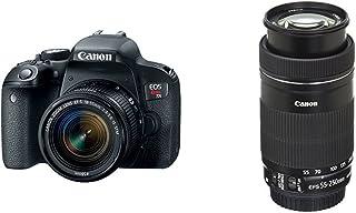 Canon EOS REBEL T7i EF-S 18-55 IS STM Kit + EF-S 55-250 f/4-5.6 IS STM Lens