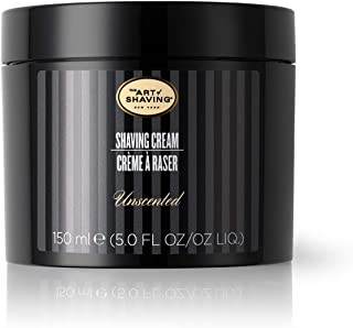 The Art of Shaving Unscented Shaving Cream for Men - The Perfect Gift, Beard Care, Protects Against Irritat...
