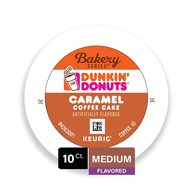 Dunkin' Donuts Bakery Series Caramel Coffee Cake Flavored Coffee K-Cup Pods, For Keurig Brewers, 10 Count