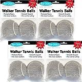 Top Glides Precut Walker Tennis Ball Glides - Gray - 4 Pairs