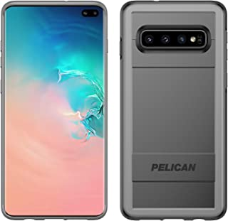 Pelican Protector Samsung Galaxy S10+ Phone Case with AMS Car Vent Mount, Drop-Tested Protective Smartphone Cover, Wireless Charging-Compatible Accessory (Black/Grey) (Renewed)