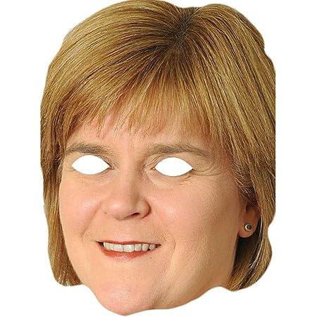 Flat Card Face Nicola Walker Celebrity Mask