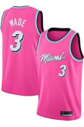 Breathable and Comfortable Fans Short Sleeve Black//Pink//S-XXL # 14 Herro Heat Mens Embroidered Basketball Jersey Sports Outdoor Vest Sweat Absorbent