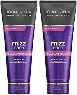 JOHN FRIEDA Frizz Ease Miraculous Recovery Shampoo and Conditioner 250ml each - Visibly repair frizz-causing damage. Achie...