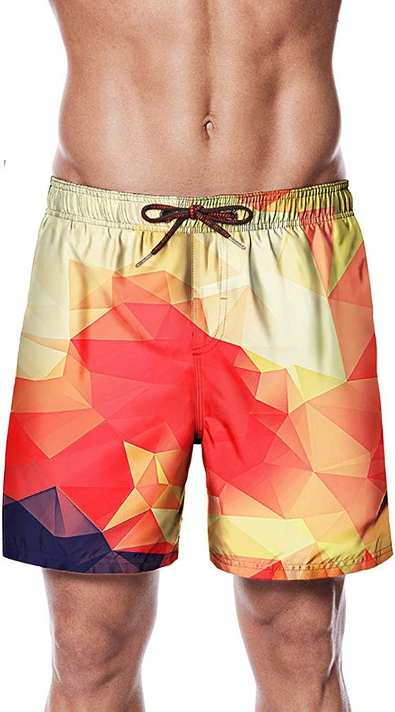 ANFitness Badehose für für für Herren Strandhose mit farbigem Karomuster Sommer Freizeitmode Shorts Mit Tasche und Tunnelzug B07QHW1MTQ  Förderung c14a27