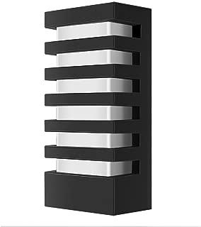 LemonBest Modern Wall Sconce Porch Light, Water-Resistant 15 Watts Outdoor LED Wall Light Fixture (Warm White)
