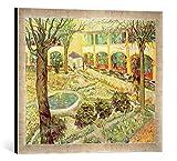 Kunst für Alle '–Fotografía enmarcada de Vincent Van Gogh The Asylum Garden at Arles, 1889, de imp...