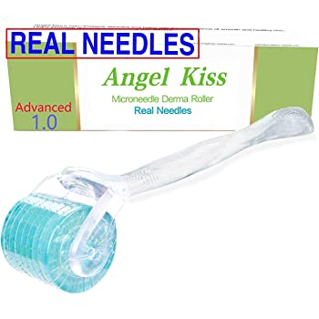 REAL Needles - Derma Roller Microneedling (Advanced Version1.0) 192 Stainless Steel Micro Needles - Angel Kiss Microneedle Cosmetic Needling Skin Care Face Roller