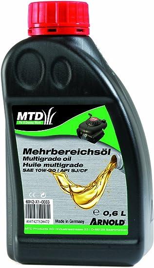 Arnold Mehrbereichs Motorenöl Sae 10w 30 Für Gartengeräte 0 6 Liter 6012 X1 0033 Baumarkt