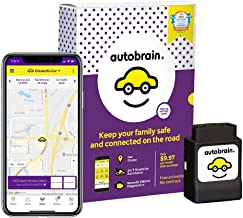 autobrain OBD Real-Time GPS Tracker for Vehicles | Auto Health Diagnostics | Parking Locator & Car Finder Tracker | Teen & Senior Driver Monitoring | 24/7 Emergency Roadside Assistance